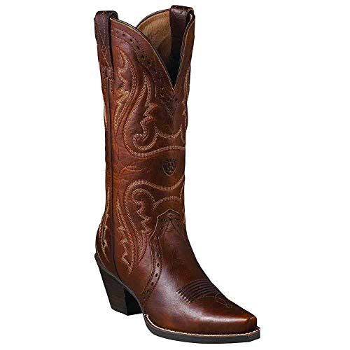 - ARIAT Women's Heritage Western Cowgirl Boot Snip Toe Caramel 7 M US