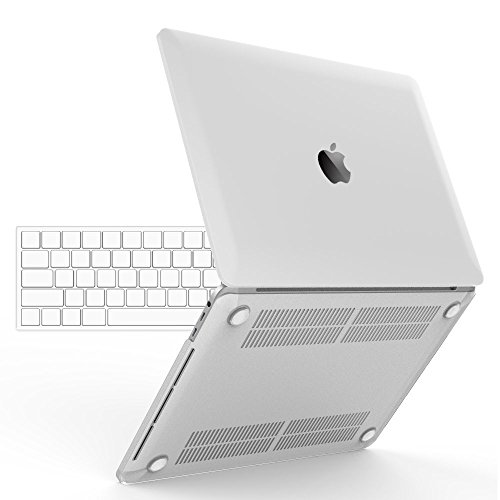 iBenzer Basic Soft-Touch Series Plastic Hard Case, TPU Keyboard Cover for 2016 Release A1706/A1708 Apple MacBook Pro 13-inch 13