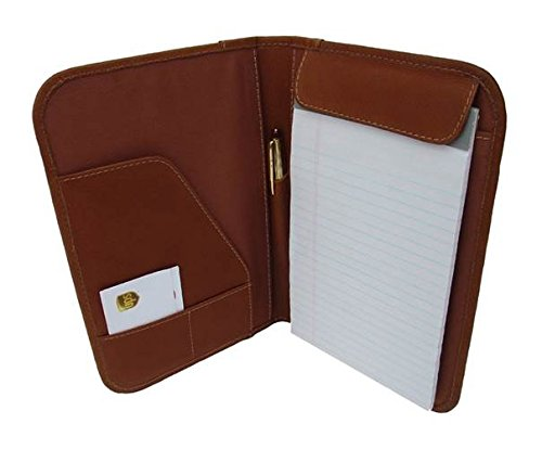 Piel Leather Junior Padfolio with 2 Open Pockets in Saddle
