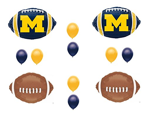 MICHIGAN Football Game Day Birthday Party Balloons Decorations Supplies College -