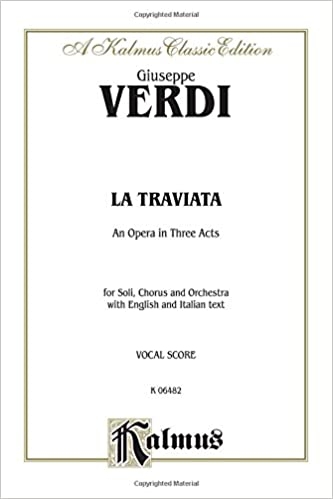 La traviata - vocal score (Italian and English): Schirmer edition