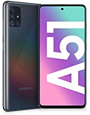 "Samsung Galaxy A51 Smartphone, Display 6.5"" Super AMOLED, 4 Fotocamere Posteriori, 128 GB Espandibili, RAM 4 GB, Batteria 4000 mAh, 4G, Dual Sim, Android 10, 172 g, (2020) [Versione Italiana], Black"