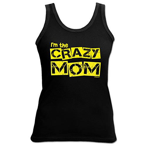 Damen Tank Top Shirt The crazy Mom 4 Girls Beach Tanktop Geschenk geil bedruckt Goodman Design