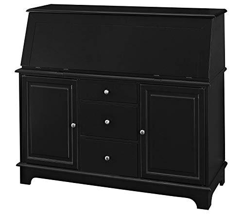 (Deluxe Premium Collection Secretary Desk - Black Decor Comfy Living Furniture)