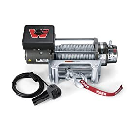 WARN 26502 M8000 Series Electric 12V Winch with Steel Cable Wire Rope: 5/16″ Diameter x 100′ Length, 4 Ton (8,000 lb) Pulling Capacity