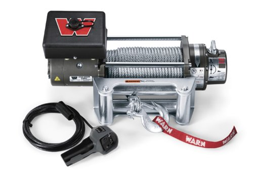 WARN 26502 M8000 Series Electric 12V Winch with Steel Cable Wire Rope: 5/16' Diameter x 100' Length, 4 Ton (8,000 lb) Lifting/Pulling Capacity