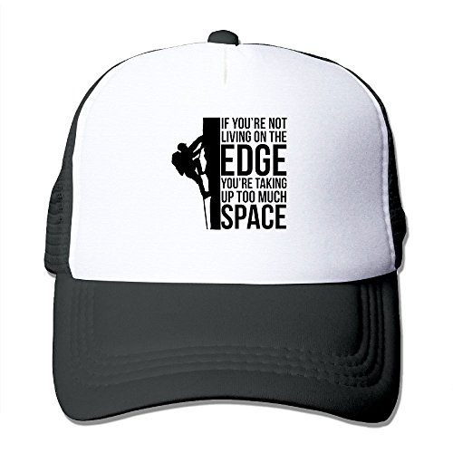 Hats Wedding Anniversary Trucker - If You're Not Living On The Edge Mesh Trucker Hat - Baseball Cap Black