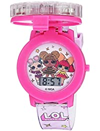 Girls' Quartz Watch with Plastic Strap, Pink, 17.4 (Model: LOL4042)