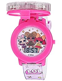 L.O.L. Surprise! Girls' Quartz Watch with Plastic Strap, Pink, 17.4 (Model: LOL4042