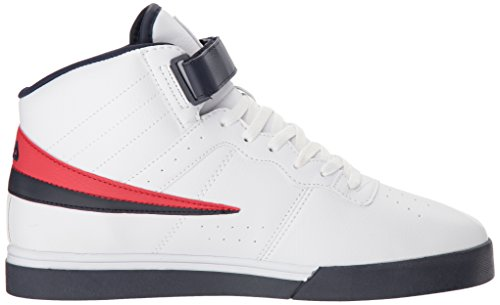 Fila Men's Vulc 13 MID Plus 2 Walking Shoe, White Navy red-125, 11.5 D US