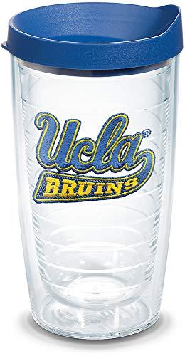 University Bruins Ucla (Tervis 1060849 UCLA Bruins Logo Tumbler with Emblem and Blue Lid 16oz, Clear)