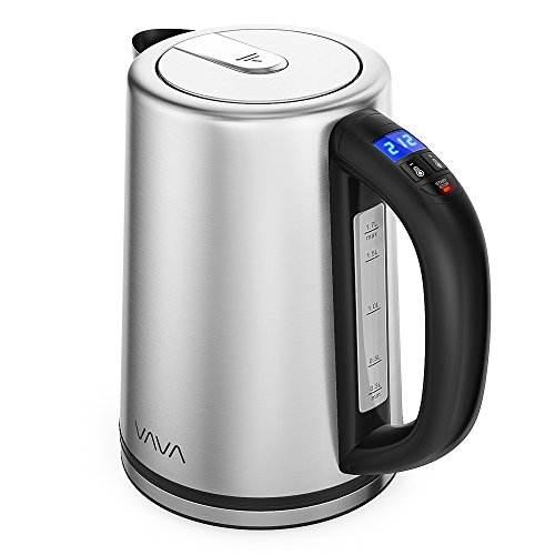 Electric Kettle, VAVA Real-Time LED Display Tea Kettle with Temperature Control, 1.7L Stainless Steel Fast Boiling Hot Water Kettle, 2H Keep Warm & Memory Function by VAVA (Image #9)