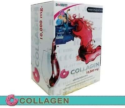3 Box Donut Collagen 10000 mg Collagen Tripeptide Innovation of New Skin Care Wash Residue Skin Bright 10 Sachet (20g./1Sachet)