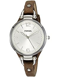 Fossil Women's ES3060 Georgia Three Hand Tan Leather...