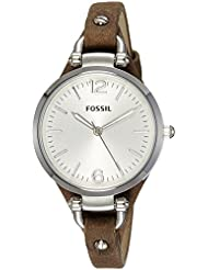 Fossil Women's ES3060 Georgia Analog Display Analog Quartz Beige Watch