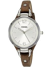 Fossil Women's ES3060 Georgia Analog Display Analog Quartz Beige Watch
