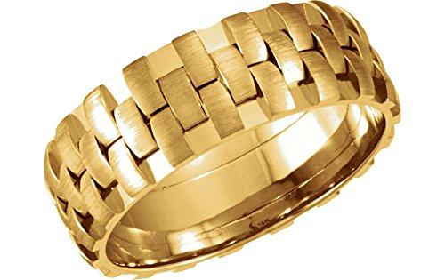 Yellow Gold Bridal Duo Band - 4
