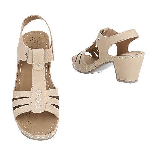 compensées Beige chaussures Design Ital femme HxRnUwF