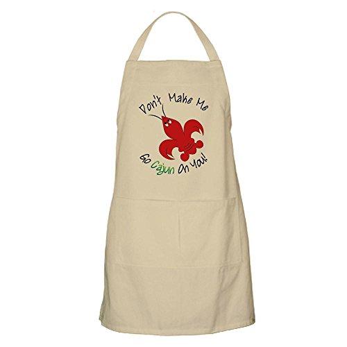 (CafePress Don't Make Me Go Cajun On You Apron Kitchen Apron with Pockets, Grilling Apron, Baking Apron)