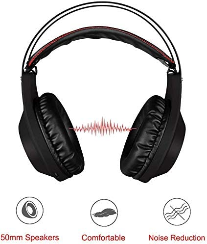 NUBWO Gaming Headset, Over Ear Stereo Gaming Headphones with Mic Compatible with PC, Computer, Laptop, PS4, Xbox One, Nintendo Switch, Mac, iPad, PSP