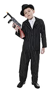 Gangster 1920's Children's Fancy Dress Costume 7-9 Years (maquillaje/ pintura de cara)