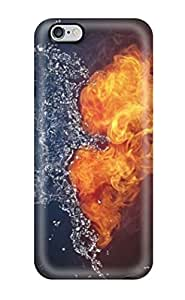 Iphone 6 Plus Splashing And Burning Heart Print High Quality Tpu Gel Frame Case Cover