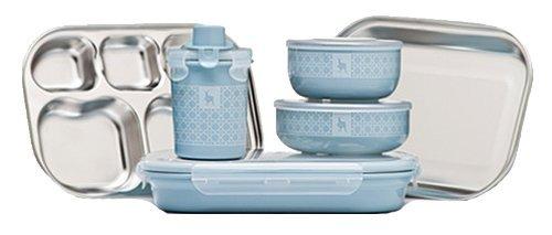 ファッション Kangovou Kids 9 Piece Dishware Dishware Set (Frosted by Blueberry) by Kangovou Kangovou B00BT0HAMG, 浅草館:c076ab75 --- a0267596.xsph.ru
