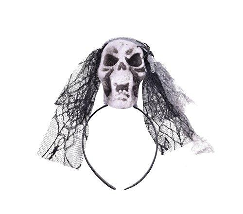 Skull Hair Hoops Halloween Head Bands Accessory for Halloween Costume Headbands (Good Gay Halloween Costume Ideas)