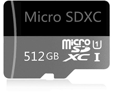 512GB Micro SD Card High Speed Class 10 SDXC with Free SD Adapter, Designed for Android Smartphones, Tablets and Other Compatible Devices (512GB)
