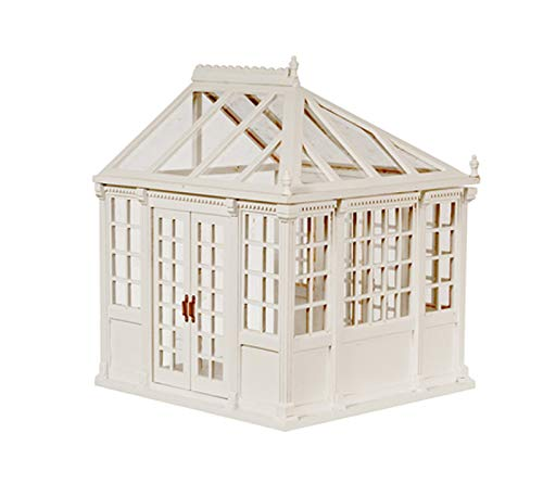 - Dollhouse Miniature Sale 1:24 Scale White Traditional Conservatory Greenhouse