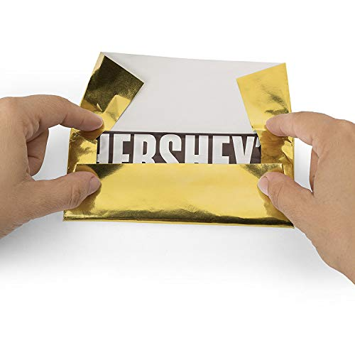 "Foil Wrapper 6"" X 7.5"" for Hershey Bar Over Wrap 100 Pack ... (Gold)"
