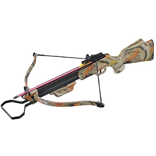 130lbs Camo Hunting Crossbow with 4×20 Scope and 7 x Arrows