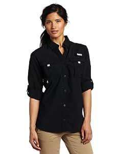 Columbia Women's Bahama Long Sleeve Shirt, Black, X-Small