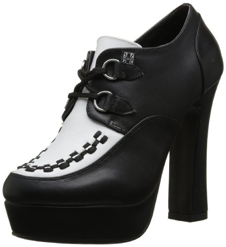T.U.K. Creeper Platform Heel Negro (Noir (Black/White/Black Interlace))