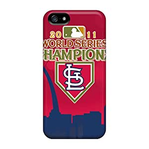 High Quality Phone Cover For Iphone 5/5s With Customized Lifelike St. Louis Cardinals Series Marycase88