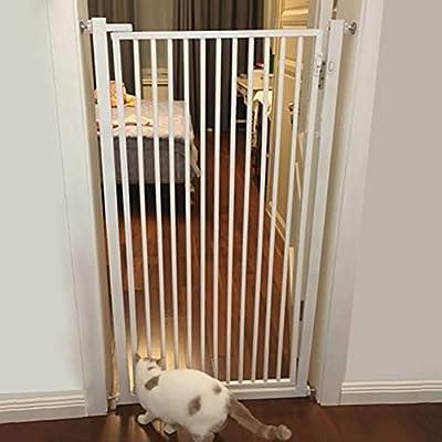 Puerta de Seguridad para Niños Extra Alto 100cm Pet Gate para Perro Gato, Interior Ensayar Puertas de Seguridad para Bebés para Bebés Y Niños Pequeños, Montado a Presión, para Escaleras de la