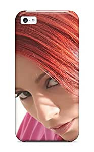 Fashion Protective Ariel With Red Hair Case Cover For Iphone 5c