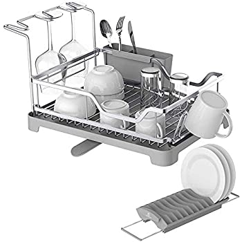 Amazon Com Aluminum Dish Drying Rack With Expandable Over