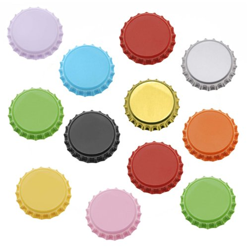 Beadaholique 50-Piece Bottle Caps Craft Scrapbook Jewelry, 50 Mixed (Bottle Caps Jewelry)
