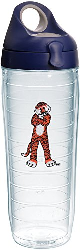 Tervis 1231914 Auburn Tigers Aubie Insulated Tumbler with Emblem and Navy with Gray Lid, 24oz Water Bottle, (Auburn Tigers Insulated Bottle)