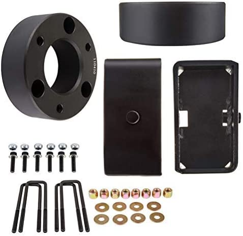 CTCAUTO Leveling Lift Kit Strut Spacer for for Chevy Silverado 1500 3 Front 2 Rear leveling kit compatible with 20072013 for Chevy Silverado 1500 48L