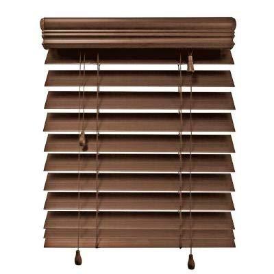 Home Decorators Collection Maple 2-1/2 in. Premium Faux Wood Blind – 52 in. W x 64 in. L (Actual Size 51.5 in. W x 64 in. L) (1 Pack)