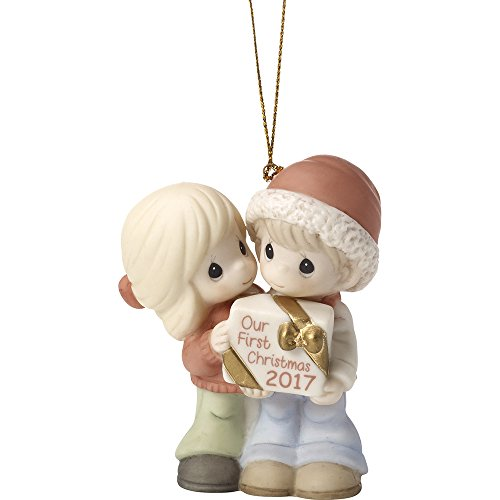 Precious Moments Our First Christmas Together 2017 Dated 2017 Bisque Porcelain Ornament - 2017 Christmas Ornament First