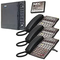 NEC DSX-40 System Kit (1) DSX-40 KSU, (1) 2-port/8-hour Intramail, (3) 34-button Phone Black