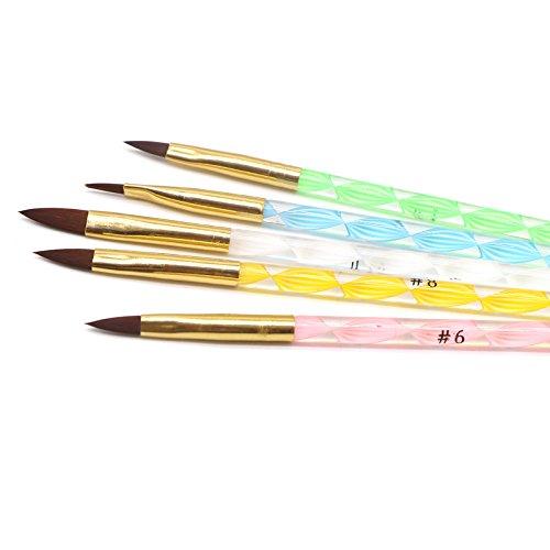DHmart 1Set Nails Art Polish Drawing Brushes Dotting Tools Pinceles Ongles Color Acrylic Gel Pen Professional Paint Drawing Brush Kit