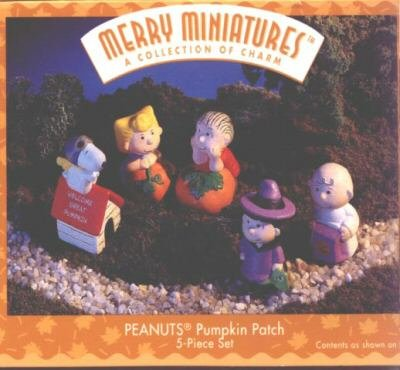 1996 Peanuts Pumpkin Patch Merry Miniatures Set of 5 Hallmark Keepsake Ornament