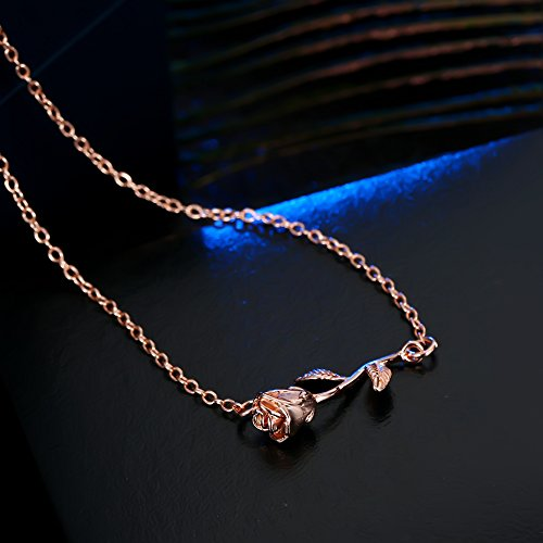 3UMeter Rose Women Girls Anklets Jewelry Exquisite Rose Gold Electroplate Brass Anklets Female, Great Foot Decoration Gift Valentine Mother's Day Birthday by 3UMeter (Image #8)