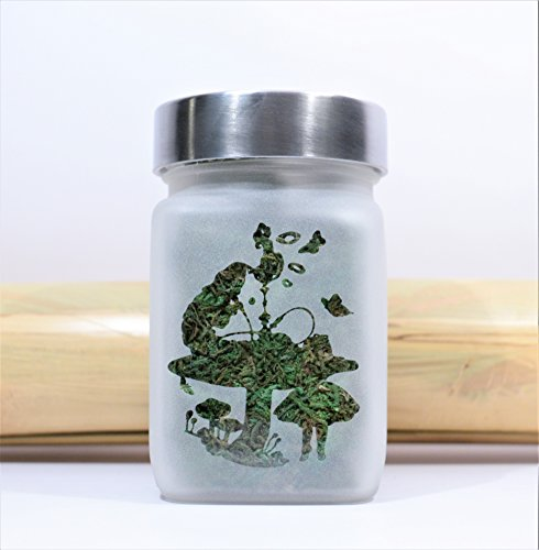 Alice in Wonderland Hookah Smoking Caterpillar Stash Jar - Weed Accessories, Stoner Gear & Stash Jars by Twisted420Glass -