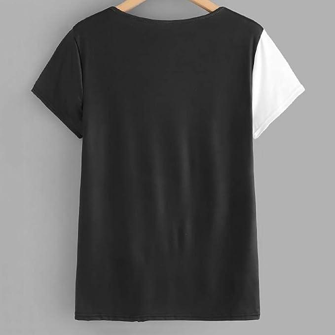 Luckycat Camisetas Corta Mujer, Gato impresión Camisa ...