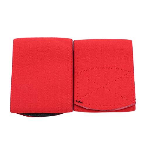 - HAOWANG Elastic Soccer Shin Guard Stay Utility Shin Guard Straps Shinguard Holder Red